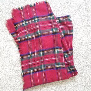 Merona Red Tartan Blanket Scarf, worn once